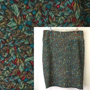LuLaRoe Feather Print Cassie Pencil Skirt